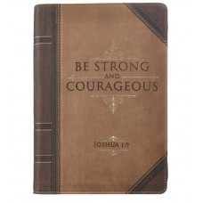 Be Strong and Courageous Zipped Journal