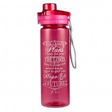 I Know the Plans Water Bottle Pink Or Black