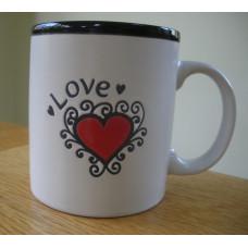Chunky Love Mug with Heart