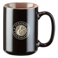 Strong & Courageous Mug Black/Khaki