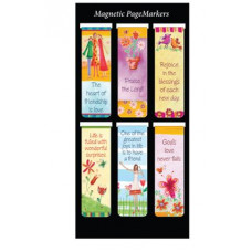 Six Magnetic Page Markers - Friendship