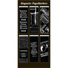 Magnetic Page Markers - Black and White