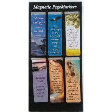 Six Magnetic Page Markers - Be Still