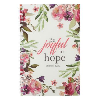 Be Joyful in Hope Slimline Wirebound Notebook