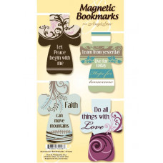 Cross Shaped Magnetic Bookmarks - Love Hope Faith Peace