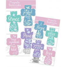 Cross Shaped Magnetic Page Markers - Pastel
