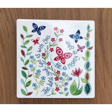 Hannah Dunnett Coaster Square - The Lord Is With You