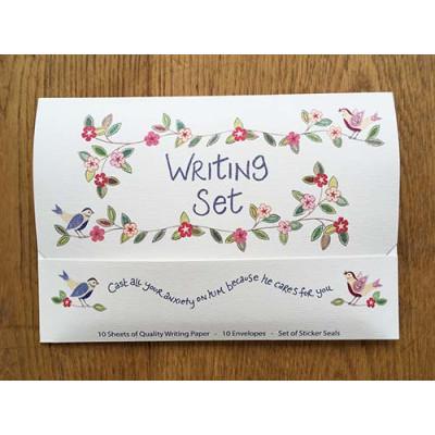 Hannah Dunnett Writing Set He Cares For You
