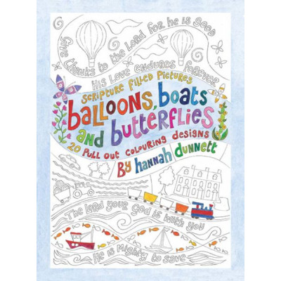 Hannah Dunnett Balloons Boats & Butterflies Colouring Book