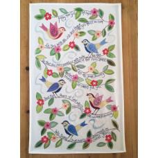 Hannah Dunnett Tea Towel God of Hope He Cares For You