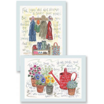 Hannah Dunnett Notecards - Fountain of Life / Abba Father Notecards