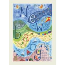 Hannah Dunnett New Baby Blue Card