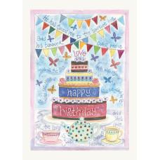 Hannah Dunnett Happy Birthday Cake Card