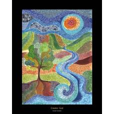 Hannah Dunnett Creator God A3 Poster