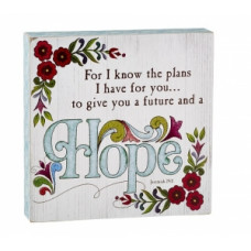 Hope and Future Box Plaque