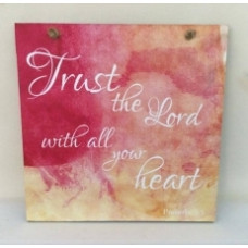 Colourful Plaque - Trust The Lord