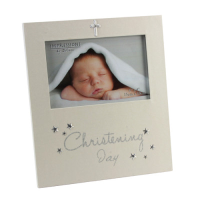 Christening Day Frame with Stars