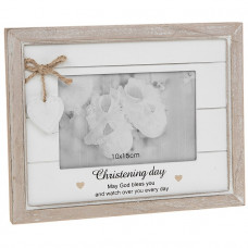 Provence Christening Day Frame God Bless