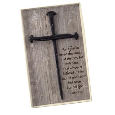 Cross of Nails Wall Cross
