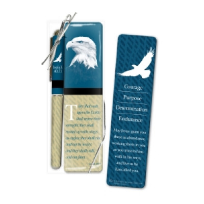 Those Who Hope Pen And Bookmark Set - Blue & Green