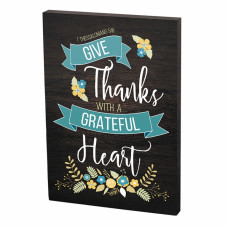 Grateful Heart Plaque