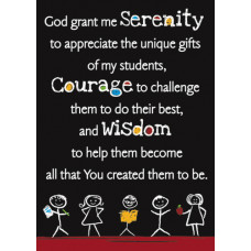 Serenity Prayer Scripture Card for Teachers