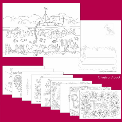 Images of Hope Postcards To Colour