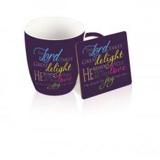Mug And Coaster Gift Set - Shout For Joy