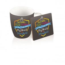 Mug and Coaster Gift Set - Shield