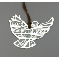 Light and Salvation Silver Hanging Bird