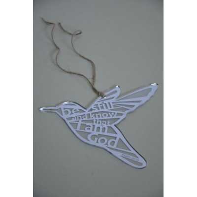 For I Know the Plans Silver Hanging Bird