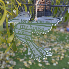 As For Me and My House Silver Hanging Bird