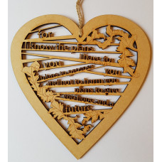 For I Know The Plans Hanging Wooden Hanging Heart