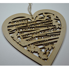Be Strong and Courageous Cut Out Wooden Hanging Heart