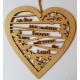 As For Me And My House Wooden Hanging Heart