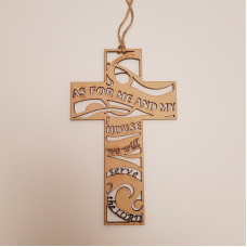 As For Me And My House Laser Cut Cross