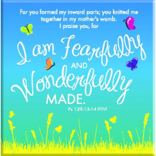 Fearfully And Wonderfully Made Fridge Magnet