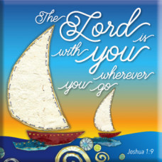 The Lord is With You Fridge Magnet