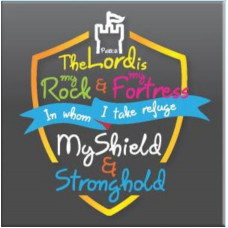 The Lord is My Rock & Shield Magnet
