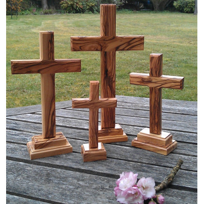 Olive Wood Standing Cross Small