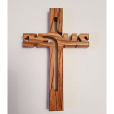 Olive Wood Jesus Cross Large