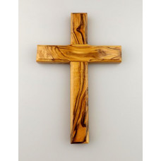 Simple Hanging Olive Wood Cross