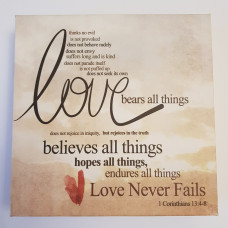 Love Bears All Things Small Canvas