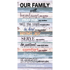 Our Family Will Canvas Plaque