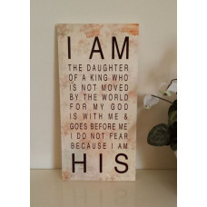 Daughter of the King Canvas Plaque