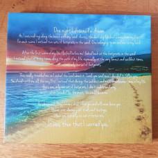 Footprints Poem Canvas