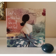 She Will Not Fail Mini Hanging Plaque