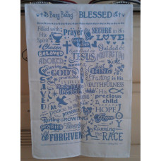 Busy Being Blessed Tea Towel