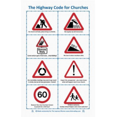 The Highway Code for Churches Tea Towel