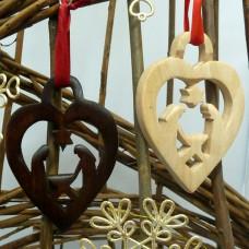 Wooden Hanging Nativity Decoration